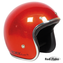 Red Flake Seventies Style Helmet - Torx Wyatt