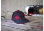 Iron Cross Red Pinstripe Flat Peak Cap - West Coast Choppers
