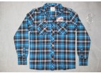 Blue Finnley Flanel Shirt - West Coast Choppers