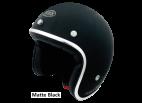 Matt Black Seventies Style Helmet - Torx Wyatt