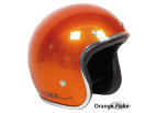 Orange Flake Seventies Style Helmet - Torx Wyatt