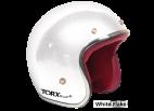 White Flake Seventies Style Helmet - Torx Wyatt