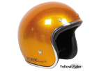 Yellow Flake Seventies Style Helmet - Torx Wyatt